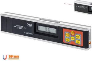 S-Digit Multi+ đo độ nghiêng điện tử dài 304mm. Đế nam châm và laser 30m.