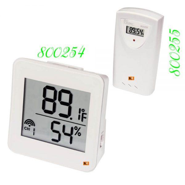 Đồng hồ đo nhiệt độ độ ẩm không dây wireless 800254 và 800255 | Le Quoc Equipment.