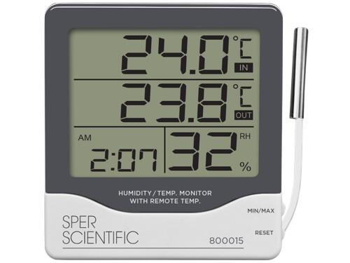 Đồng hồ đo nhiệt độ độ ẩm 800015 | Đồng hồ nhiệt độ | Sper