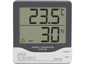 Nhiệt kế đo nhiệt độ phòng 800016 Sper