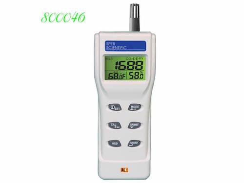 800046 đo nồng độ CO2, nhiệt độ và độ ẩm không khí, điểm sương dew point, bầu ướt web bulb.