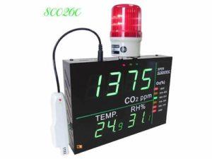 800260 đo CO2, O2, nhiệt độ và độ ẩm không khí.