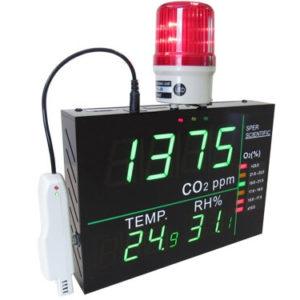 Đồng hồ đo oxy, CO2, nhiệt độ và độ ẩm không khí 800260 Sper