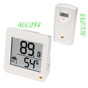 Đồng hồ đo nhiệt độ độ ẩm wireless 800254 800255