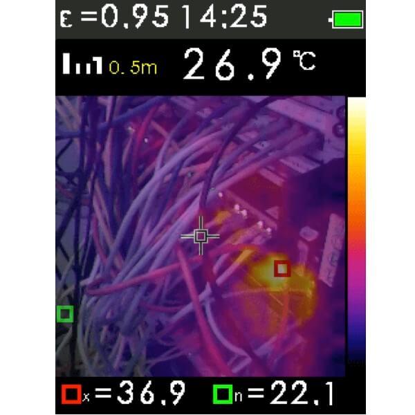 Camera nhiệt hồng ngoại FTI 300 Geo-Fennel. Ảnh nhiệt.